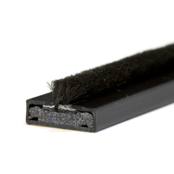 15 x 4mm Fire & smoke intumescent strip 2.1m Black