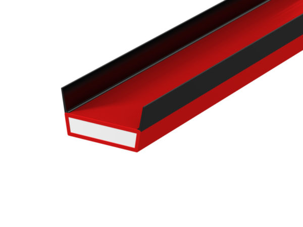 Lorient DS (SIDE TWIN FIN) Acoustic Fire & Smoke 15x4mm RED