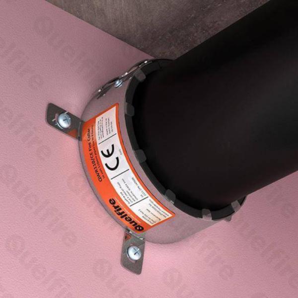 Quelfire QWR Intumescent Pipe Collar - 110mm 4hr